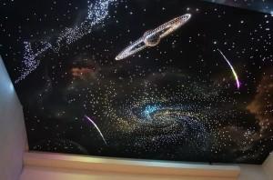 цена натяжных потолков звездное небо